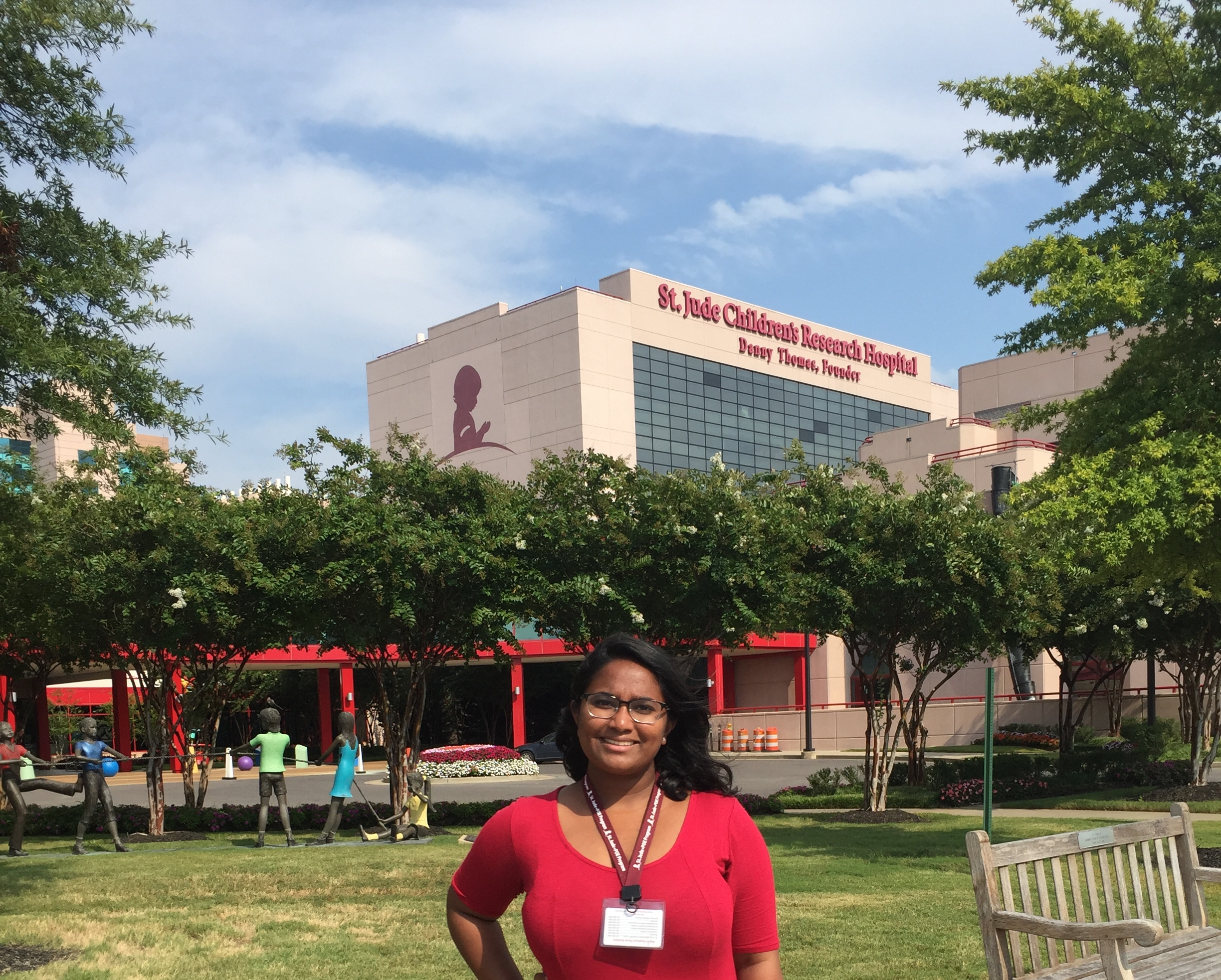 Erica spent a summer conducting cancer research at St. Jude Children's  Research Hospital in Memphis