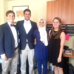 Joseph Obeid, second from left, with his fellow Echo Foundation interns