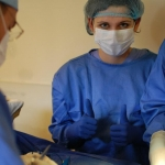 Anna interning with the Cinterandes Foundation's mobile surgery unit
