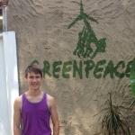 Greenpeace intern, Casey Aldridge
