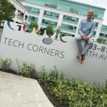 Brandon Nixon at the Google headquarters in Mountain View, CA.