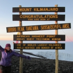 Christie at Mount Kilimanjaro in Tanzania