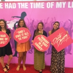 """Anna Schwartz, Chloe Rodengen, Megan Woody and Erin Coggins had the time of their lives at Blumenthal Performing Arts Center's production of """"Dirty Dancing."""""""