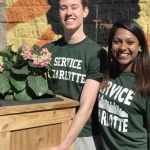 Vince and Vidhya used their civic engagement grants to create Service Charlotte, an annual community service day.