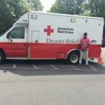 Randy Staples at his internship with Red Cross.