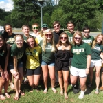 Levine Scholars enjoy tailgating with their family and friends.