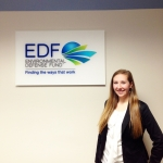 Kaitlyn at the Environmental Defense Fund in New York.