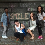 Joneka Percentie, James Parkhill, Addy Goff and Isabella Calpakis enjoy New York City.