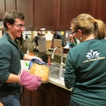 Levine Scholars prepare a meal each month for the families at Ronald McDonald House.