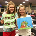 Julia and Lauren showcase their 49er spirit.