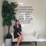 Erin Coggins at her internship with Present Age Ministries.