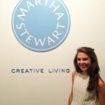 Addy at Martha Stewart Living in New York.