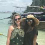 Lauren and Vidhya in Shanghai
