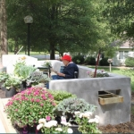 Isabel used her architecture degree to create a garden club and outdoor space at a local assisted living community.