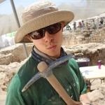 Matt at an archaeological dig in Jerusalem