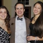 Jaden Barney, Austin Philemon and Isabella Calpakis at the Chancellor's Reception.