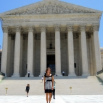Christina Neitzey touring DC as she interned at the Department of Justice