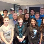 Class of 2019 with Mr. and Mrs. Levine at Bank of America Stadium