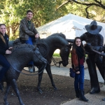 Megan, Eddie and Morgan soak in the local culture while attending the USPAA Scholar Summit in Austin, TX.