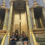 Taelor (center) in Thailand
