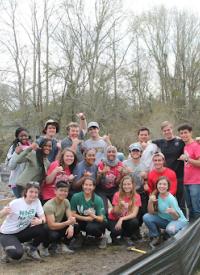 Group of Levine Scholars in Charleston, SC for Alternative Spring Break