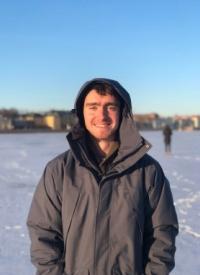 Dmity in St. Petersburg in the snow